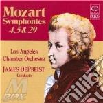 Mozart - Sinfonia N.4 K 19, N.5 K 22, N.29 K 201 cd musicale di Wolfgang Amadeus Mozart