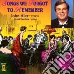 Songs We Forgot To Remember  - Aler John  Ten/grant Gershon, Pianoforte cd musicale di Miscellanee
