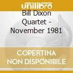 November 1981 cd musicale di Bill dixon quartet