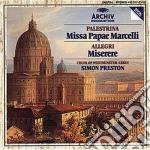 Palestrina - Missa Papae Marcelli - Preston cd musicale di PALESTRINA