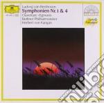 Beethoven - Symphonies Nos.1&4 - Karajan cd musicale di Beethoven ludvig van