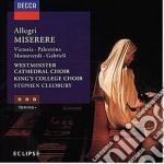 MISERERE cd musicale di ALLEGRI/PALESTRINA