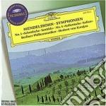 Mendelssohn - Sinf. N. 3 & 4 - Karajan cd musicale di KARAJAN VON HERBERT