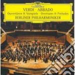 Verdi - Ouvertures E Preludi - Abbado cd musicale di Claudio Abbado