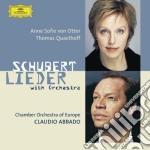 Schubert - Lieder With Orchestra - Von Otter / Abbado cd musicale di SCHUBERT