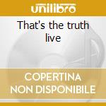 That's the truth live cd musicale di Bugs Henderson