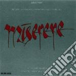 Arvo Part - Miserere cd musicale di PART ARVO
