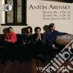 Arensky Anton Stepanovich - Quartetto N.1 Op.11, Quartetto N.2 Op.35, Quintetto Per Pianoforte Op.51 cd musicale di Arensky anton stepa