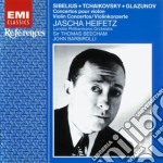 CONCERTI PER VIOLINO HEIFETZ BEECHAM cd musicale di SIBELIUS/CIAIKOVSKY/GLAZUNOV