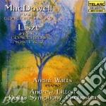 Piano concerto/mc dowele liszt cd musicale di Artisti Vari