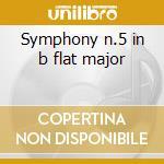 Symphony n.5 in b flat major cd musicale di Bruckner joseph a.