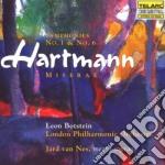 London Philharmonic Orchestra / Botstein Leon - Hartmann: Sinfonie N.1 & 6  Miserae cd musicale di Hartmann karl amadeus