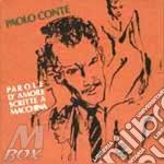 PAROLE D'AMORE SCRITTE A MACCHINA cd musicale di Paolo Conte
