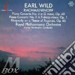 Piano conc.n.4 op.40, n.1 op.1 cd musicale di Sergei Rachmaninoff