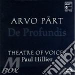 Part  Arvo - De Profundis cd musicale di PART ARVO