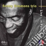 Live in paris cd musicale di Sonny simmons trio