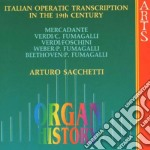 Arturo Sacchetti - Organ History: Italian Operating Transcriptions cd musicale di Artisti Vari