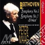 Beethoven, L. V. - Symphony No.1 & 3 'eroica cd musicale di Beethoven