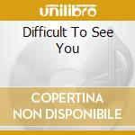 DIFFICULT TO SEE YOU cd musicale di Noir Chat