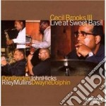 Cecil Brooks III - Live At Sweet Basil cd musicale di Cecil brooks iii