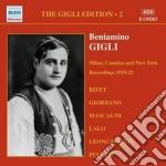 Gigli Beniamino - Gigli Edition Vol.2: Registrazioni Milano, Camden & New York 1919-22 cd musicale di Beniamino Gigli