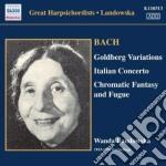 Bach J.S. - Variazioni Goldberg, Concerto Italiano, Fantasia Cromatica E Fuga cd musicale di Johann Sebastian Bach