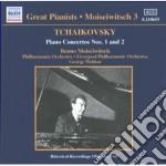 Tchaikovsky - Piano Concertos N.1 Op.23, N.2 Op.44, Chanson Triste Op.40-2 - Benno Moiseiwitsch cd musicale di Ciaikovski pyotr il'