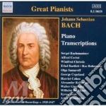 Bach J.S. - Trascrizioni X Pf cd musicale di Johann Sebastian Bach