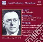 Weber Carl Maria Von - Ouvertures Da Il Franco Cacciatote, Oberon, Euryanthe cd musicale di Weber carl maria von