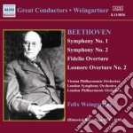 Beethoven Ludwig Van - Sinfonie N.1 Op.21, N.2 Op.36, Ouvertures cd musicale di Beethoven ludwig van