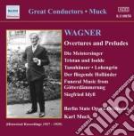 Wagner Richard - Overtures E Preludi cd musicale di Richard Wagner