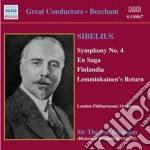 Sibelius Jean - Sinfonia N.4, Una Saga, Finlandia, Lemminkainen's Return, Scenes Historiques, cd musicale di Jean Sibelius