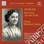 Mahler - Das Lied Von Der Erde, 3 Ruckert-lieder cd musicale di Gustav Mahler