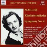 Mahler Gustav - Sinfonia N.4, Kindertotenlieder cd musicale di Gustav Mahler
