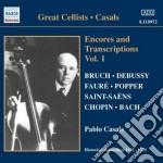 Pablo Casals - Encores And Transcriptions Vol.1 cd musicale di Pablo Casals