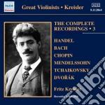 Kreisler Fritz - Integrale Delle Registrazioni, Vol.3: 1914-1916 cd musicale di Fritz Kreisler