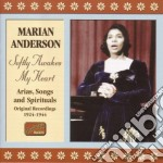Softly awakes my heart (1924-1944) - vol cd musicale di Marian Anderson