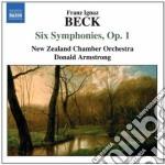 Beck Franz Ignaz - Sinfonie Nn.1-6 Op.1 cd musicale di Beck franz ignaz