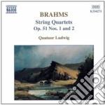 Brahms Johannes - Quartetto X Archi N.1 E N.2 Op.51 cd musicale di Johannes Brahms