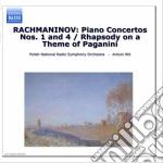 Rachmaninov Sergei - Concerto X Pf N.1 Op.1, N.4 Op.40, Rapsodia Su Temi Di Paganini Op.43 cd musicale di Sergei Rachmaninov