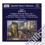 Espla' - Complete Works For Piano cd musicale di Óscar EsplÁ