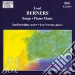 Berners Lord - Lieder, Opere Per Pianoforte cd musicale di Lord Berners