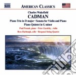 Cadman Charles Wakefield - Trio Op.56, Sonata X Vl, Quintetto X Pfe Archi, The Legend Of The Canyon Op.68, cd musicale di Cadman charles wakef