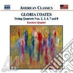 Coates Gloria - Quartetti Per Archi Nn.2,3,4,7 E 8 cd musicale di Gloria Coates