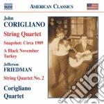 Corigliano John - Snapshot - Circa 1909, Quartetto Per Archi N.1, A Black November Turkey cd musicale di John Corigliano