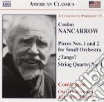 Conlon Nancarrow - Piece N.1 E N.2 Per Piccola Orchestra, Quartetto N.1, Sonatina Per Pf. cd musicale di Conlon Nancarrow
