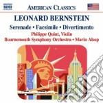 Bernstein Leonard - Serenade, Facsimile, Divertimento cd musicale di Leonard Bernstein