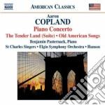 The tender land suite, concerto per pian cd musicale di Aaron Copland