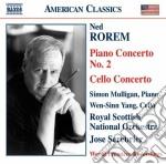 Rorem Ned - Concerto Per Pianoforte N.2, Concerto Per Violoncello cd musicale di Ned Rorem