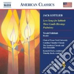 Love songs for sabbath, 3 candle blessin cd musicale di Jack Gottlieb